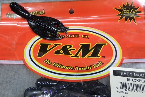V&M Bait BABY MUD BUG#BLACBERRY