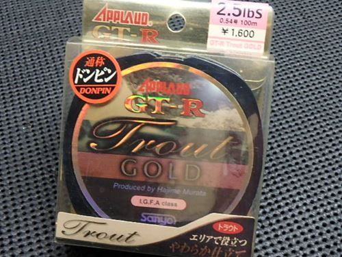 GT-R Trout GOLD 2.5lbs(0.54号)100m(70%off)